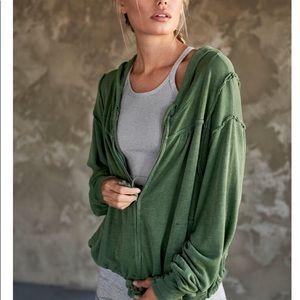 Mesa hoodie free people xs green Sedona sage
